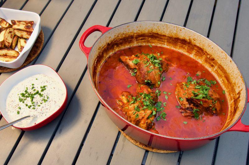 Lammlägg i tomatsås